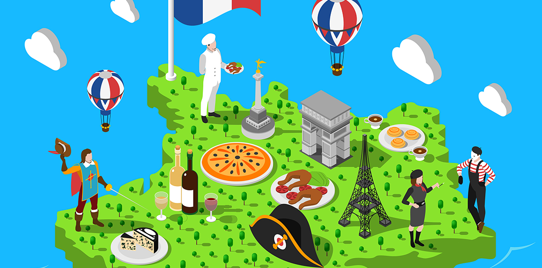 Carte de France des saveurs